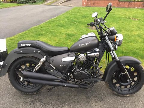 keeway superlight 125 harley lookalike 2014 motorcycle for sale in west midlands. Black Bedroom Furniture Sets. Home Design Ideas